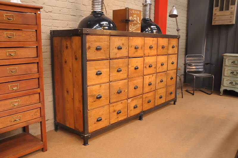The industrial furniture contact us for Meuble industriel pas cher